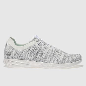 Skechers White & grey You Devine Womens Trainers