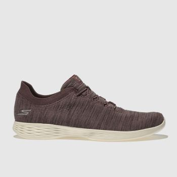 Skechers Mauve You Devine Womens Trainers