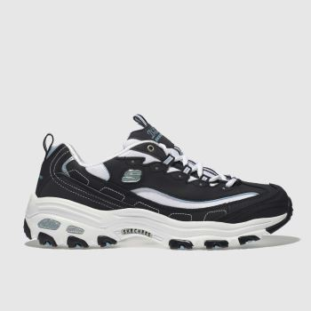 skechers navy & white dlites trainers