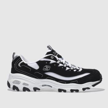 Skechers Black & White Dlites c2namevalue::Womens Trainers