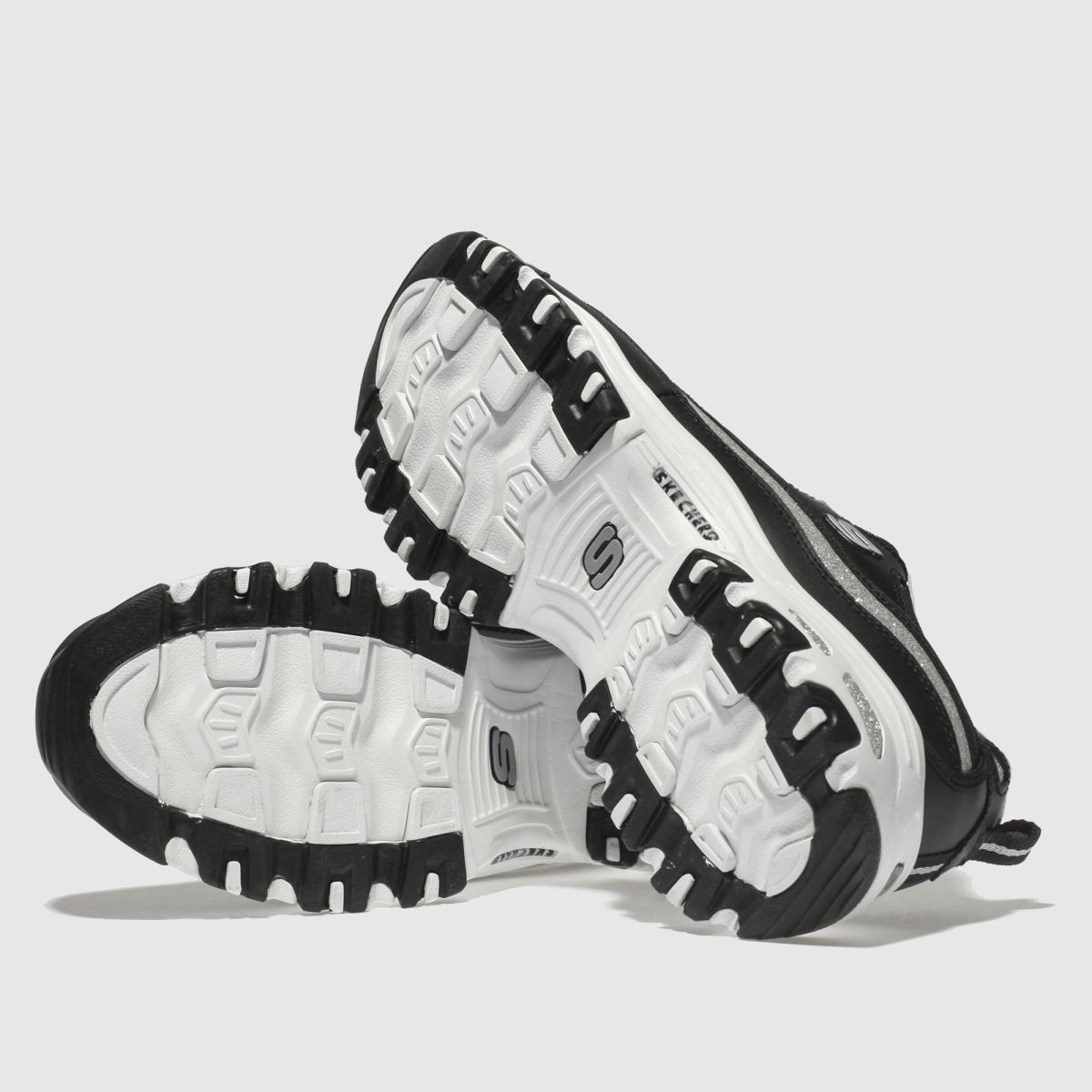 Damen schuh Schwarz-silber skechers Dlites Sneaker | schuh Damen Gute Qualität beliebte Schuhe 38d78c