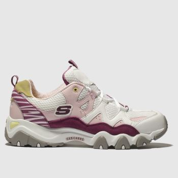 SKECHERS WHITE & PINK DLITES 2.0 X ONE PIECE TRAINERS