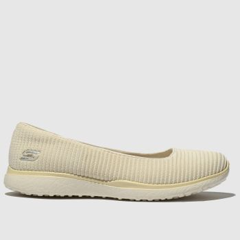 86dda798f4 Skechers Natural Microburst Womens Trainers