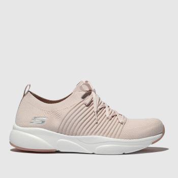 skechers pale pink meridian trainers