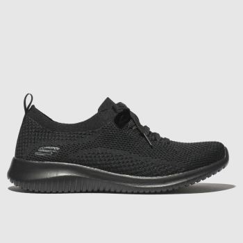 SKECHERS Black Ultra Flex Happy Days Trainers