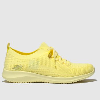 Skechers Yellow Ultra Flex Pastel Party Womens Trainers