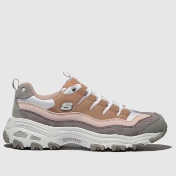 Skechers Pink Dlites Sure Thing Womens Trainers from Schuh