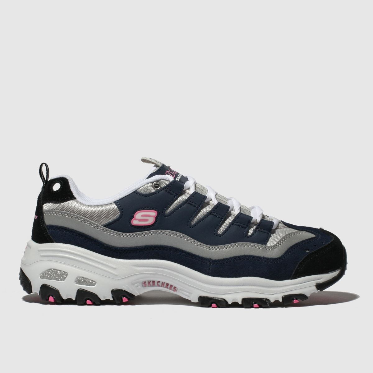 Skechers Navy & White Dlites Sure Thing Trainers