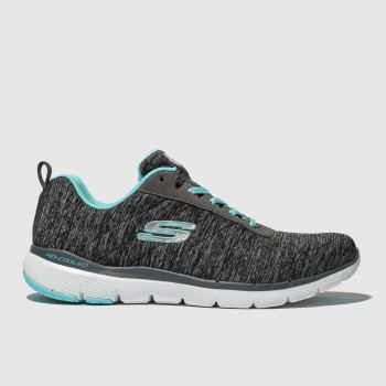 Skechers Grey Flex Appeal 3.0 Insiders Womens Trainers