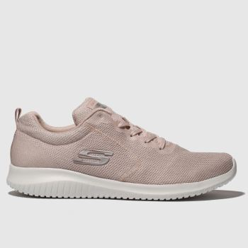 Skechers Pale Pink Ultra Flex Simply Free Womens Trainers