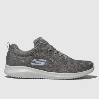 Skechers Grey ULTRA FLEX SIMPLY FREE Trainers