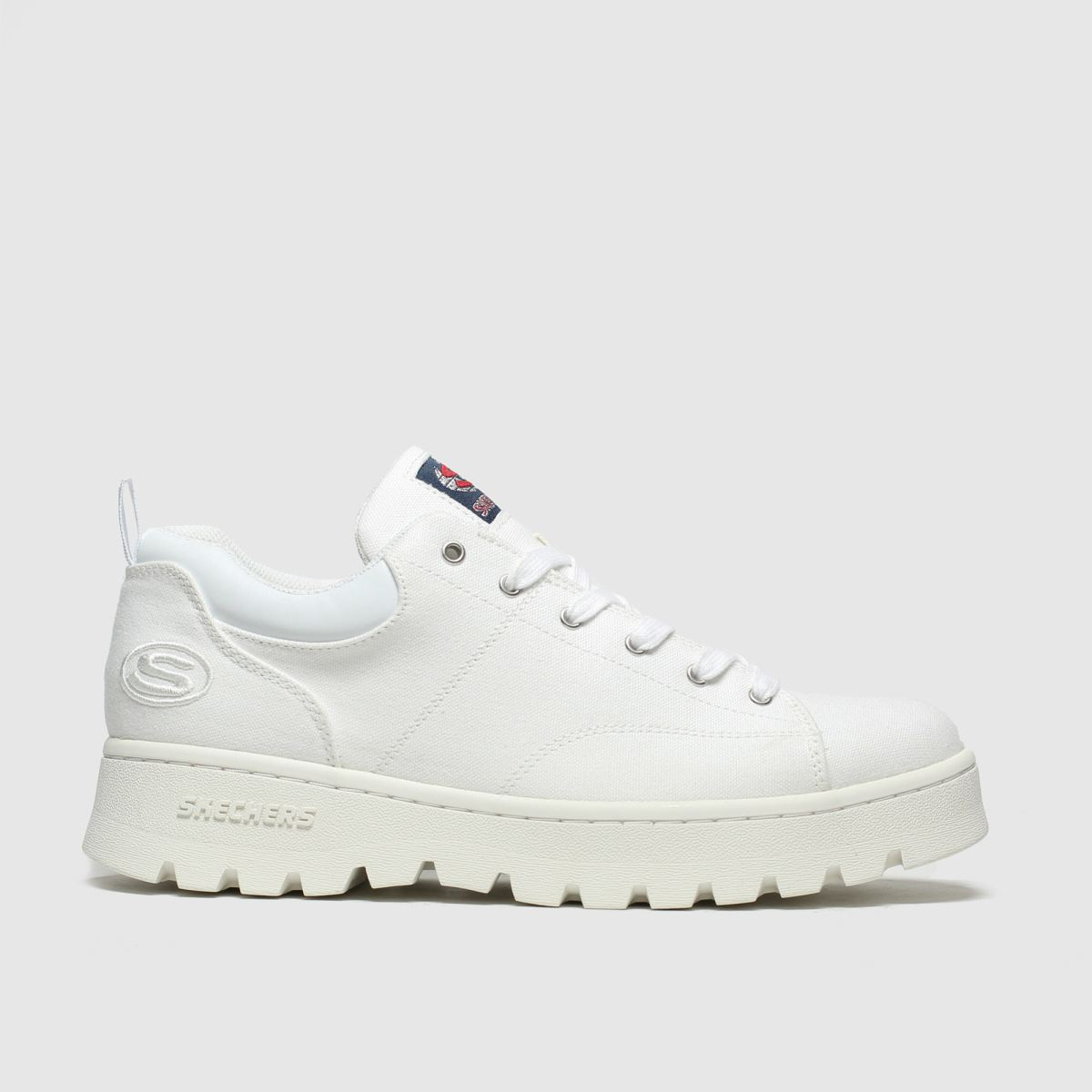 Skechers White Cleats Luckier Trainers