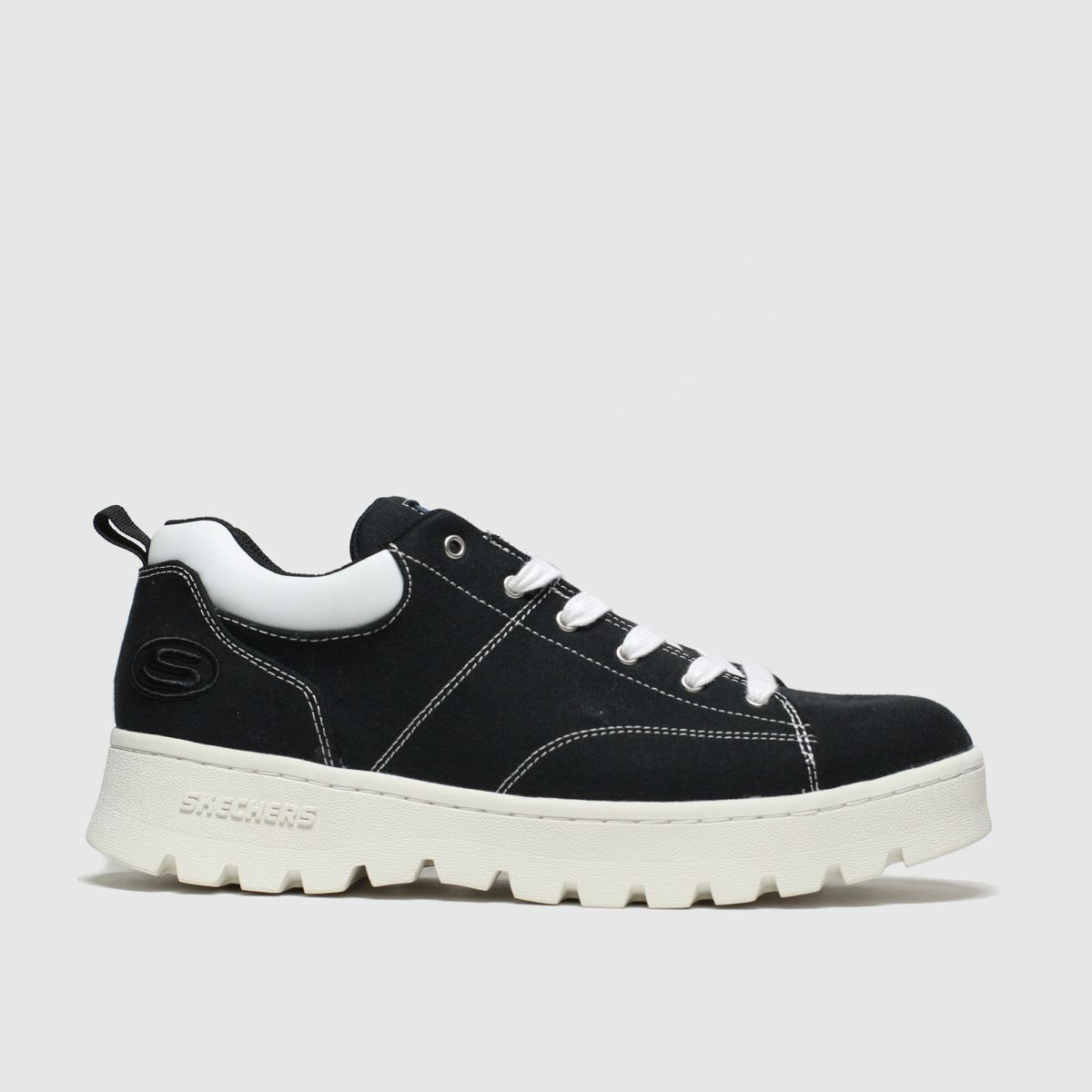 Skechers Black & White Cleats Luckier Trainers