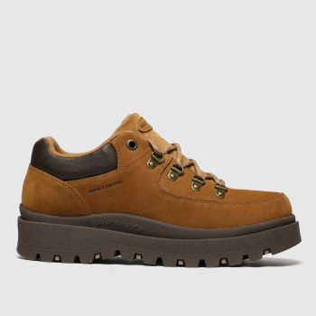 Skechers Tan Shindigs Stompin Womens Trainers