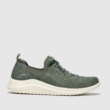 Skechers Khaki Ultra Flex 2.0 Flash Illusion Womens Trainers