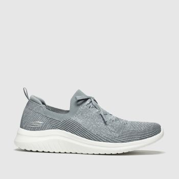 Skechers Grey Ultra Flex 2.0 Flash Illusion c2namevalue::Womens Trainers
