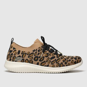 SKECHERS Brown & Black Ultra Flex Safari Tour Womens Trainers