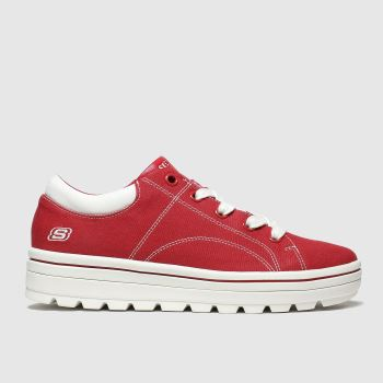 Skechers Red Street Cleats 2 Bring It Womens Trainers