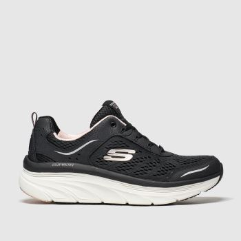 Skechers Black & pink Skech Max Flex Womens Trainers