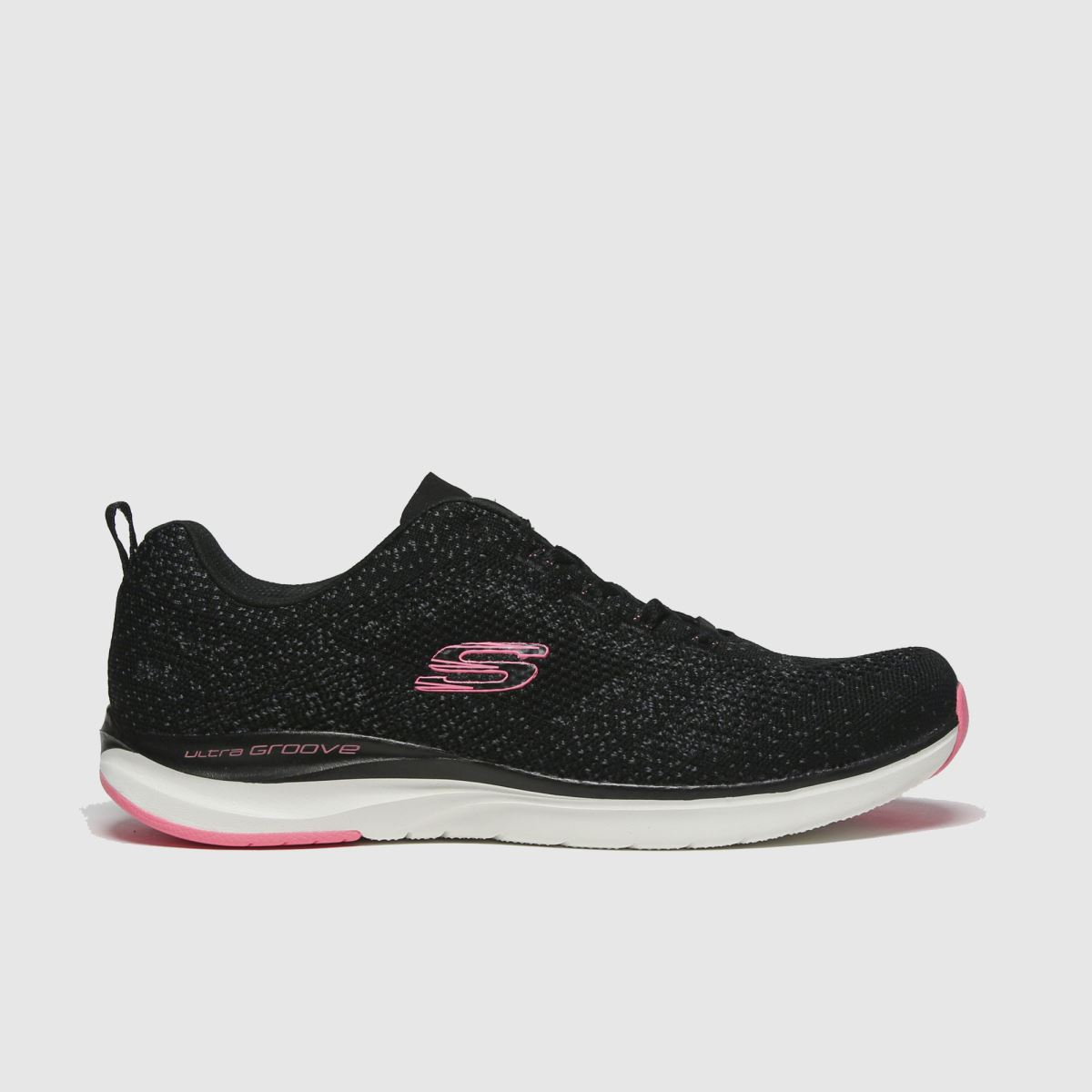 Skechers Black & Pink Ultra Groove Trainers