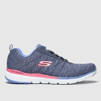 SKECHERS Navy Flex Appeal 3.0 Womens Trainers