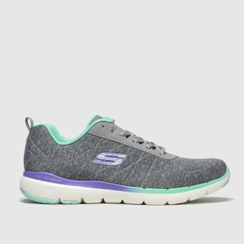 Skechers Grey Flex Appeal 3.0 Womens Trainers