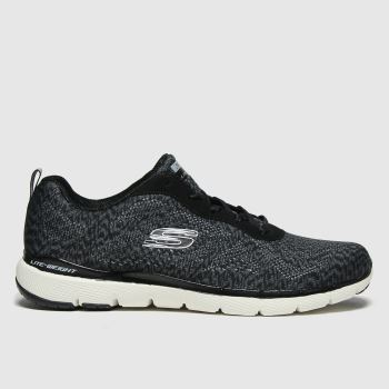 SKECHERS Black & White Flex Appeal 3.0 Womens Trainers