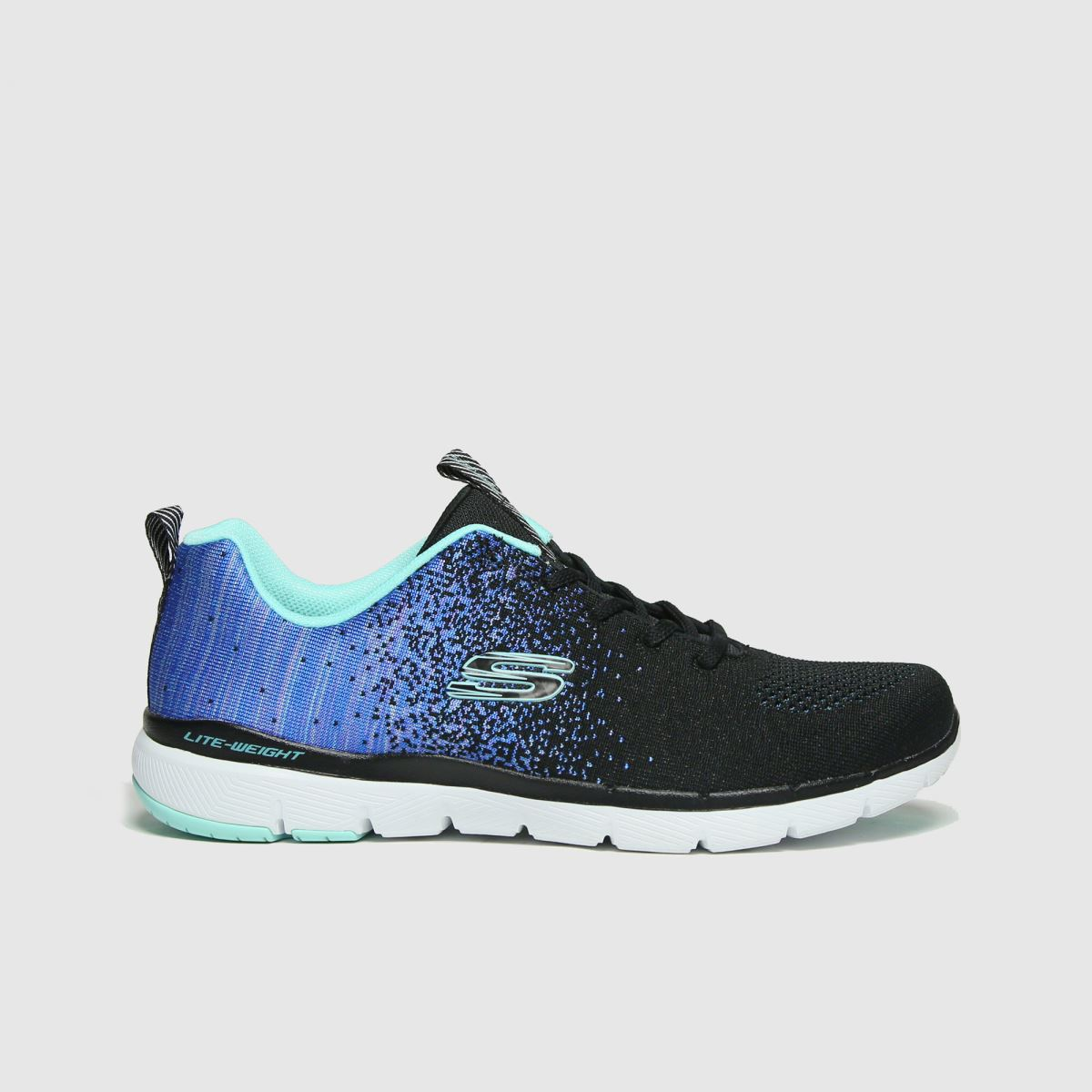 Skechers Black And Blue Flex Appeal 3.0 Trainers