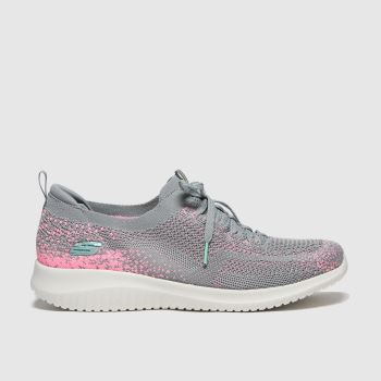SKECHERS Grey Ultra Flex Womens Trainers