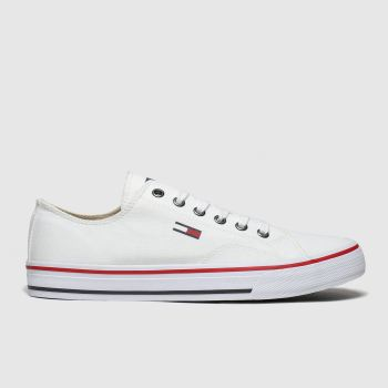 Tommy Hilfiger White Tj Low Cut Sneaker Womens Trainers