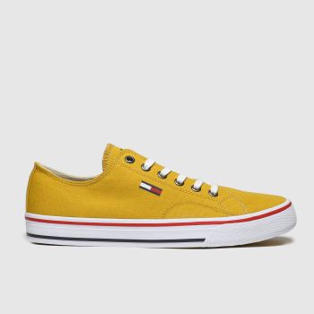 Tommy Hilfiger Yellow Tj Low Cut Sneaker Womens Trainers