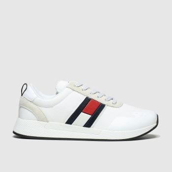 Tommy Hilfiger White Tj Technical Pin Logo Sneaker Womens Trainers