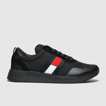 Tommy Hilfiger Black Tj Technical Pin Logo Sneaker Womens Trainers