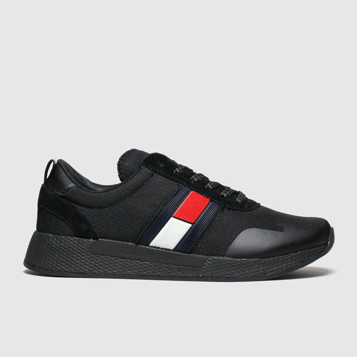 Tommy Hilfiger Black Tj Technical Pin Logo Sneaker Trainers