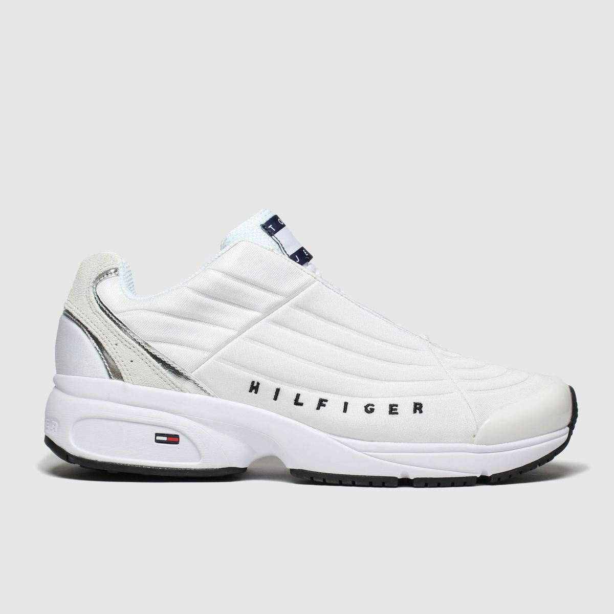 Tommy Hilfiger White & Silver Tj Heritage Sneaker Trainers