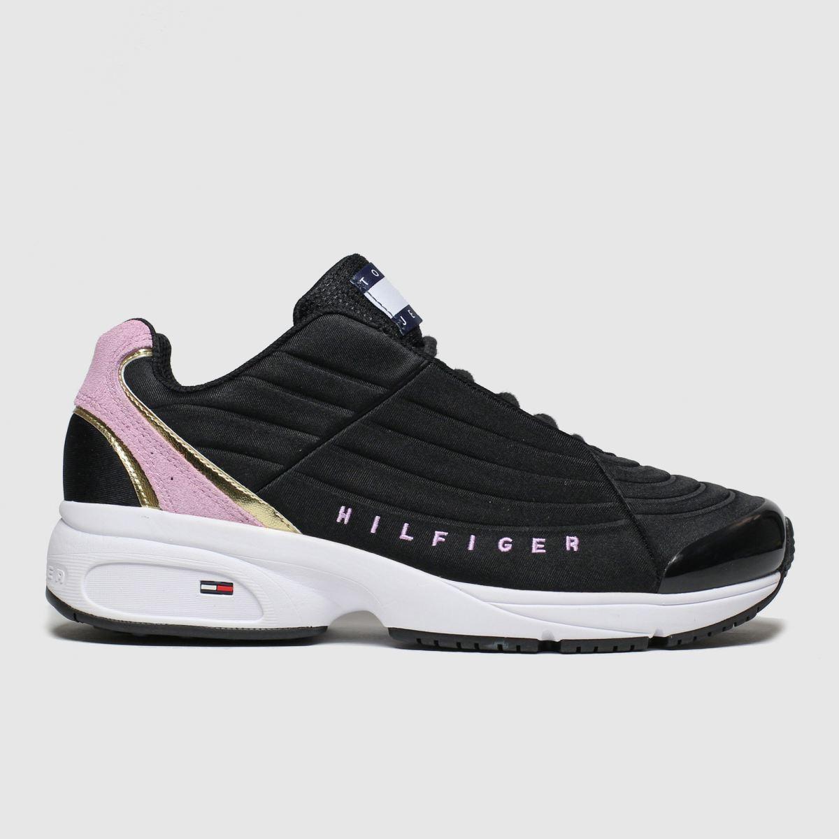Tommy Hilfiger Black & Pink Tj Heritage Sneaker Trainers