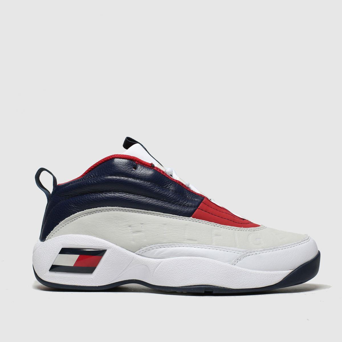 Tommy Hilfiger White & Navy Tj The Skew Heritage Sneaker Trainer
