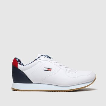 Tommy Hilfiger White & Navy Tj Casual Tommy Jeans Womens Trainers