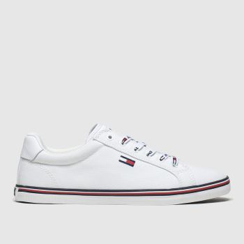 Tommy Hilfiger White Essential Lace Up Sneaker Womens Trainers#