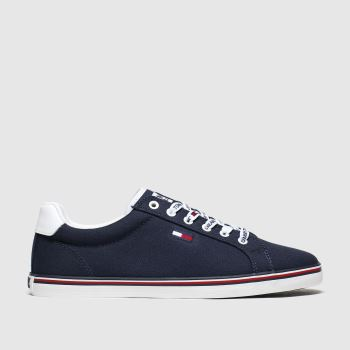 Tommy Hilfiger Navy Essential Lace Up Sneaker c2namevalue::Womens Trainers