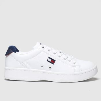 Tommy Hilfiger White Cupsole Heritage Sneaker Womens Trainers