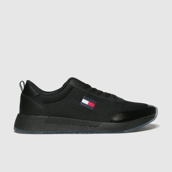 Tommy Hilfiger Black Flexi Runner Sneaker Womens Trainers