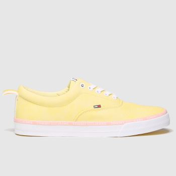 Tommy Hilfiger Yellow Tj Pastel Color Lace Up Womens Trainers