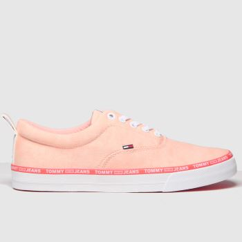Tommy Hilfiger Pale Pink Tj Pastel Color Lace Up Trainers