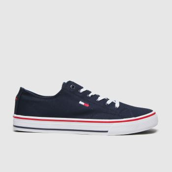 Tommy Hilfiger Navy Long Lace Up Sneaker Trainers