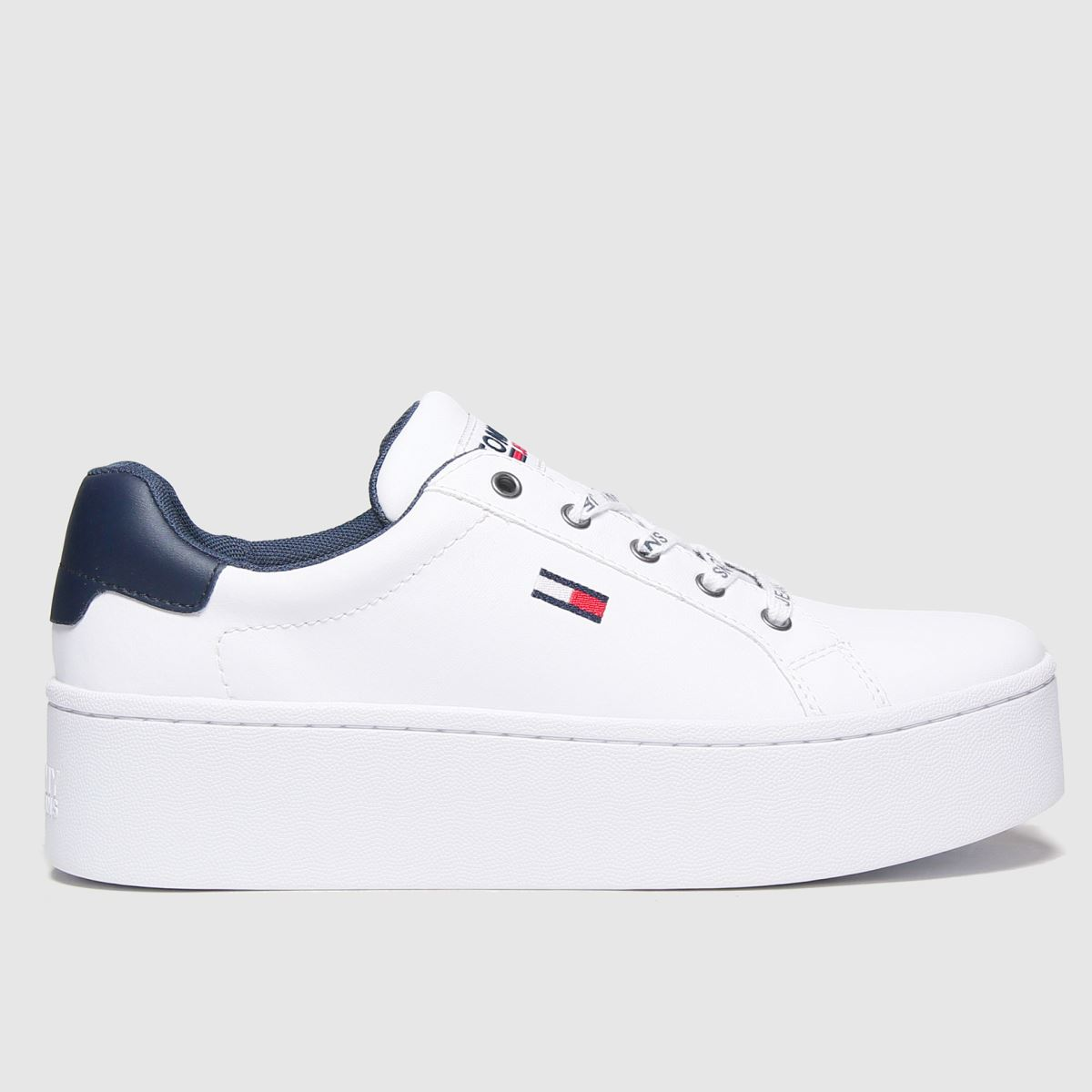 Tommy Hilfiger White Iconic Flatform Sneaker Trainers