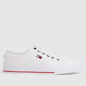 Tommy Hilfiger White Low Cut Vulc Sneaker Womens Trainers