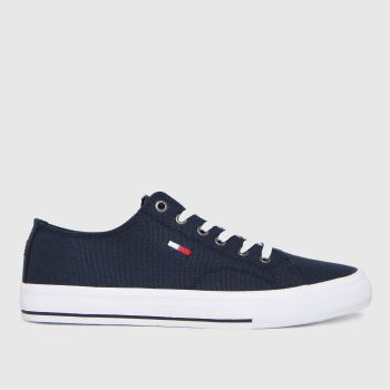 Tommy Hilfiger Navy Low Cut Vulc Sneaker Womens Trainers