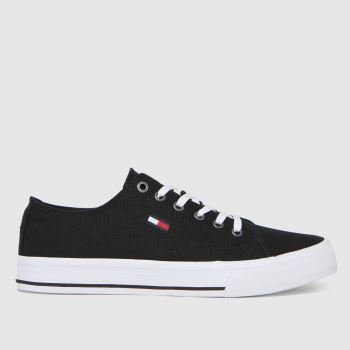 Tommy Hilfiger Black & White Low Cut Vulc Womens Trainers
