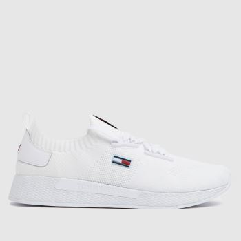 Tommy Hilfiger White Flexi Knitted Sneaker Womens Trainers